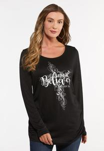 Plus Size Inspirational Believer Top