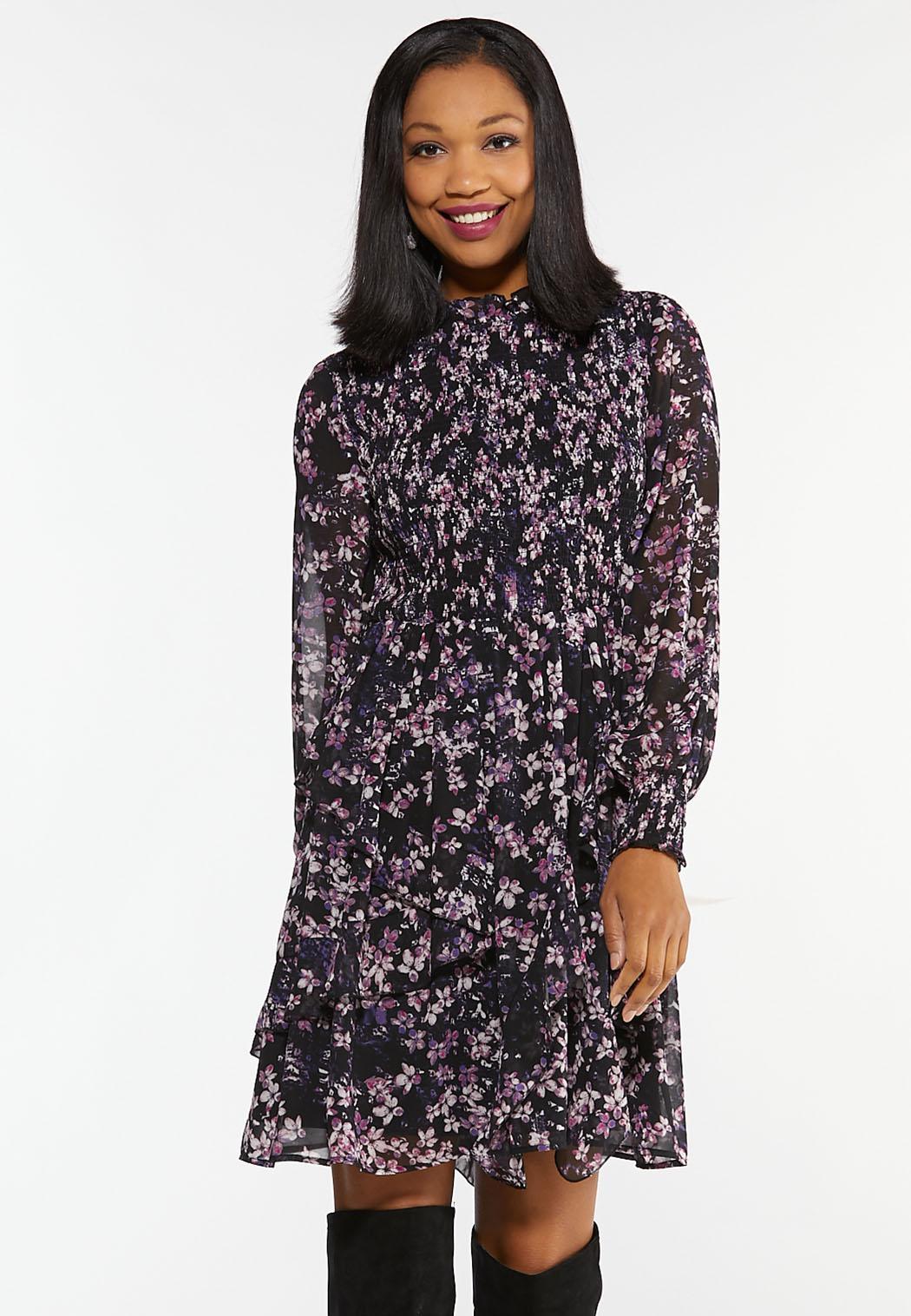 Lavender Floral Babydoll Dress