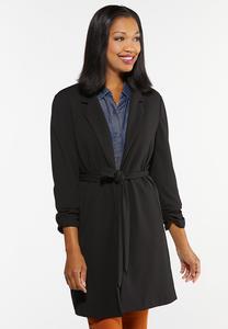 Plus Size Tie Waist Jacket