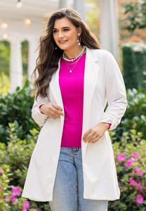 Plus Size Tie Waist Jacket