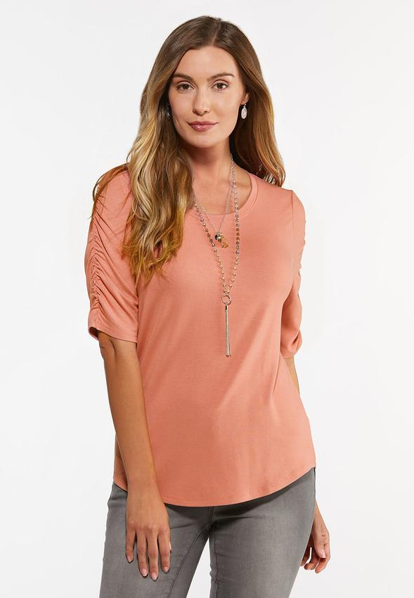Cinched Sleeve Top