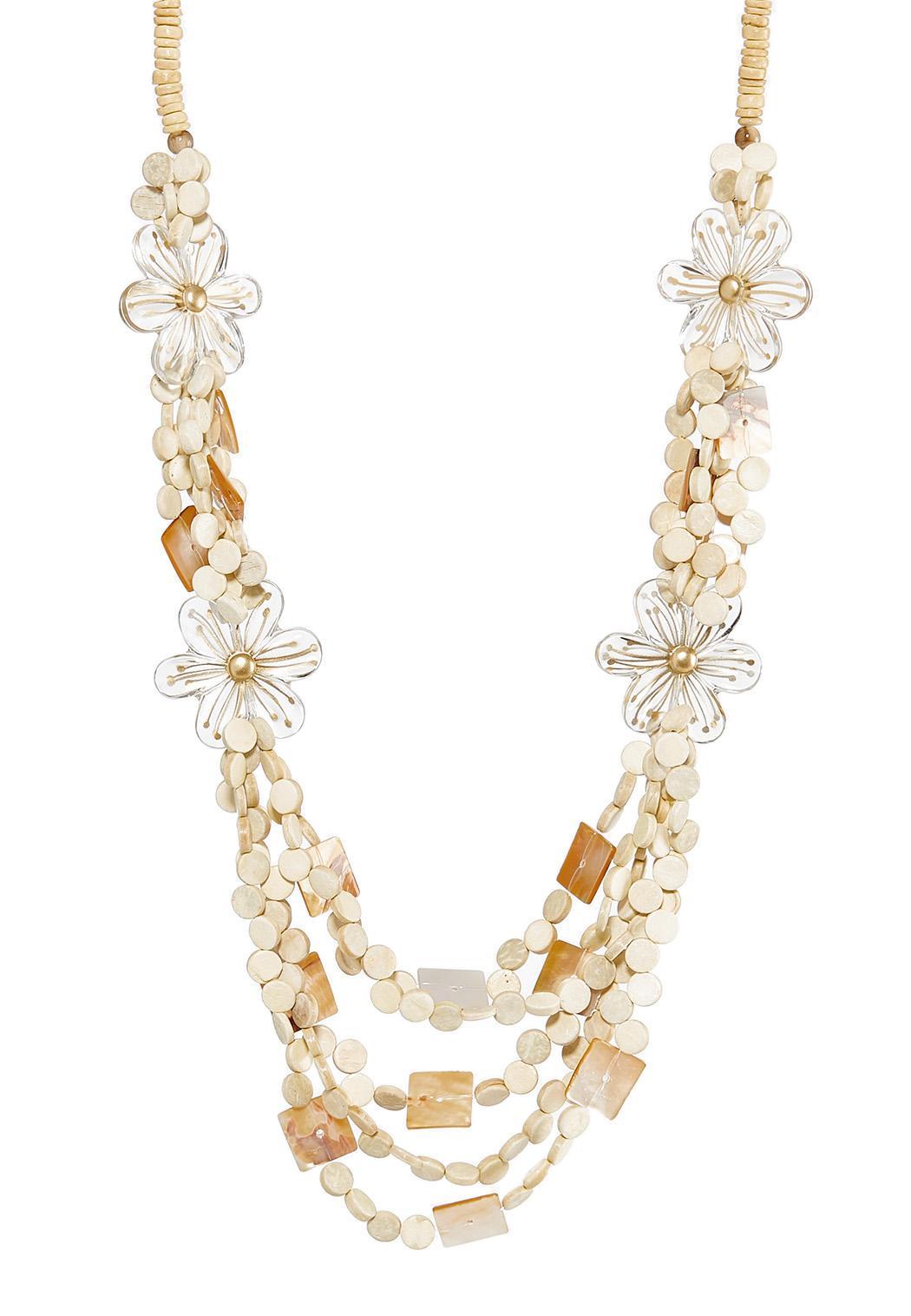 Multi Row Flower Infinity Necklace