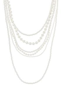 Mixed Layered Pearl Necklace