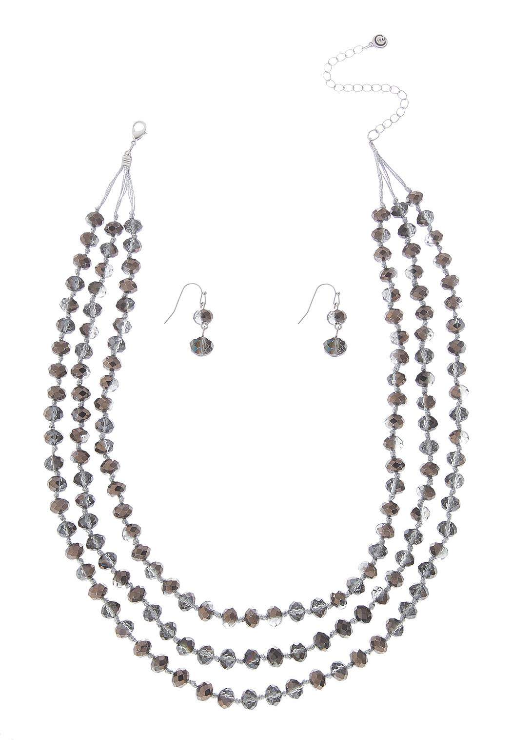 Hematite Layered Necklace Set