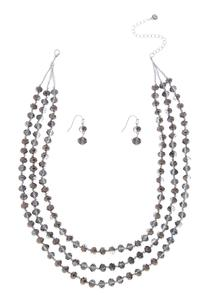 Hematite Layered Necklace Set