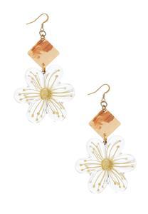 Golden Haze Flower Earrings