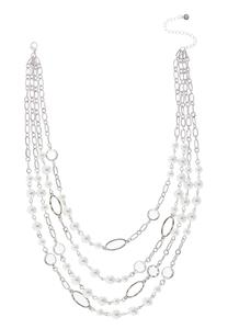 Layered Mixed Pearl Bead Necklace