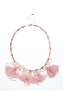 Chiffon Petal Statement Necklace