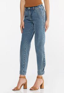 Tulip Hem Mom Jeans