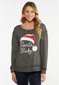 Plus Size Santa Baby Sweatshirt
