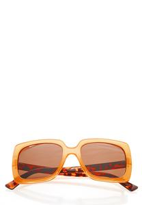 Golden Yellow Square Sunglasses