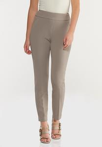 Petite Textured Slim Pants
