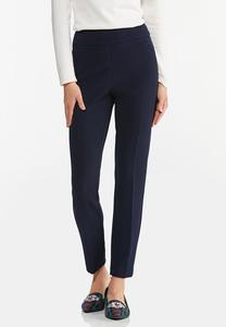 Petite Textured Slim Pants