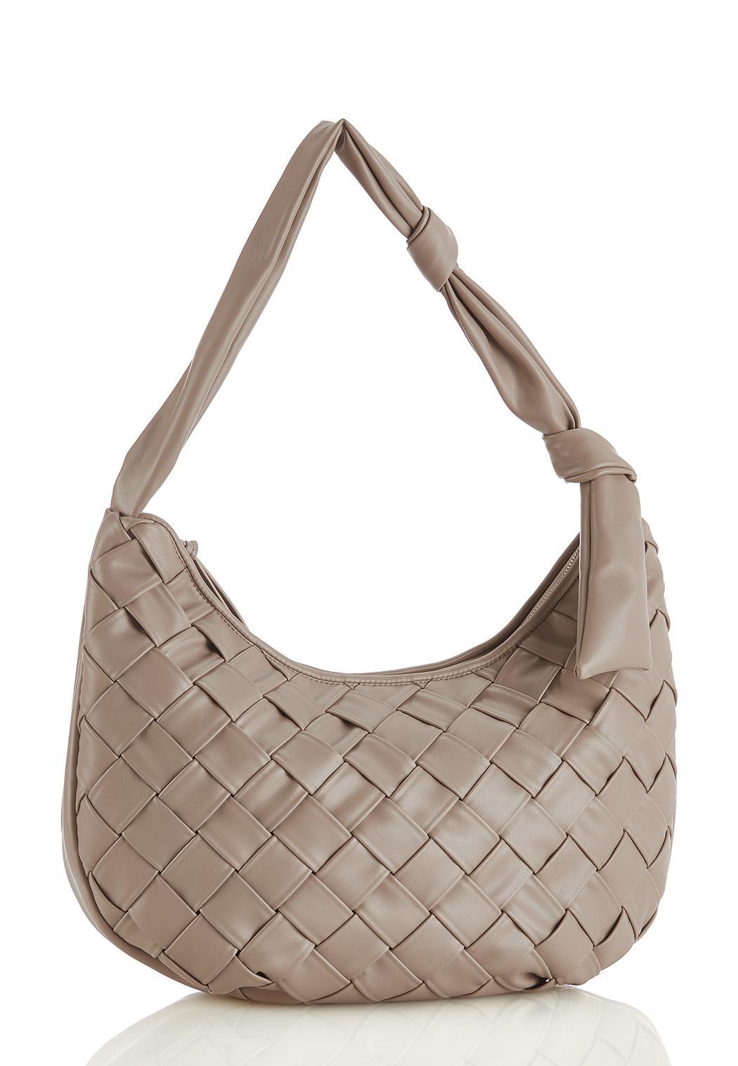 Basketweave Hobo Handbag