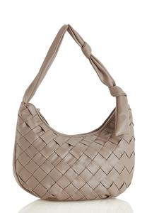 Basketweave Hobo Handbag
