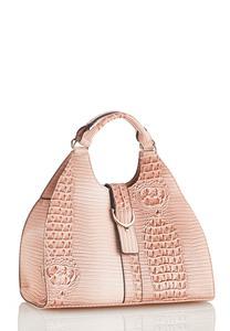 Pink Croc Satchel