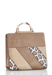 Mix Print Squared Satchel