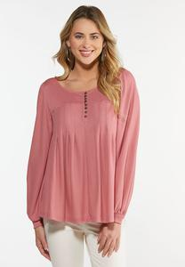 Rose Balloon Sleeve Top