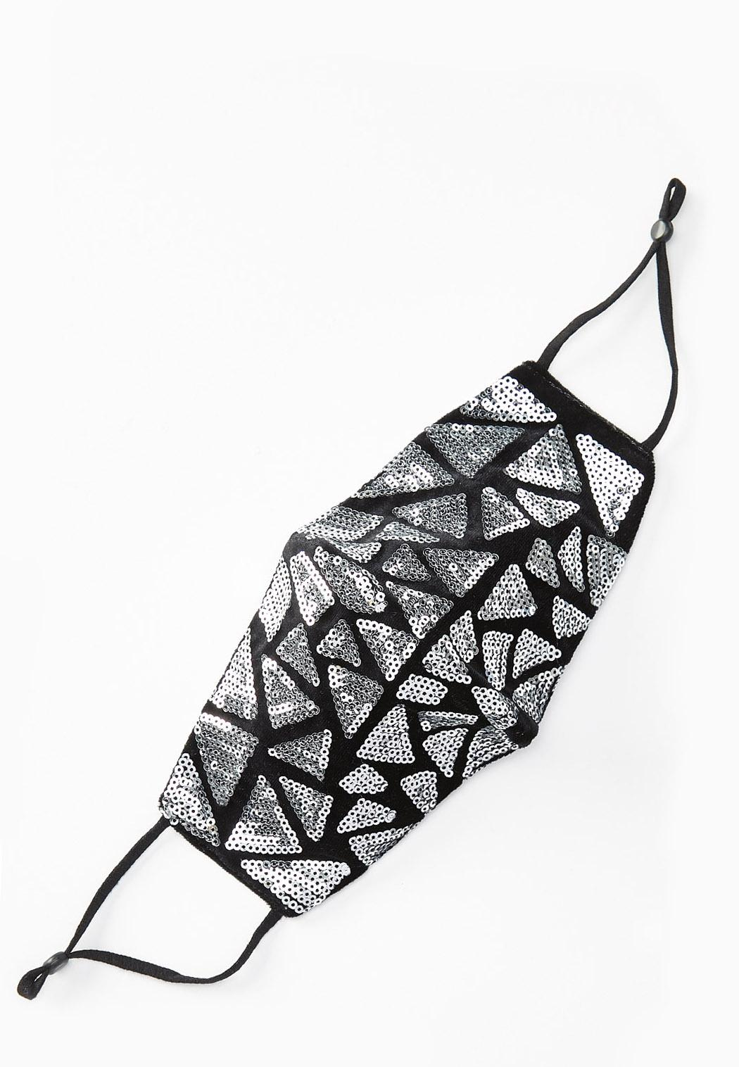Sequin Triangle Face Mask