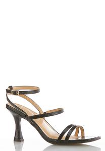 Wide Width Strappy Heeled Sandals