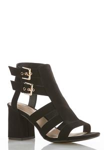 Double Buckle Cutout Shooties