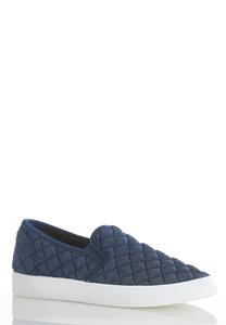Denim Quilted Sneakers