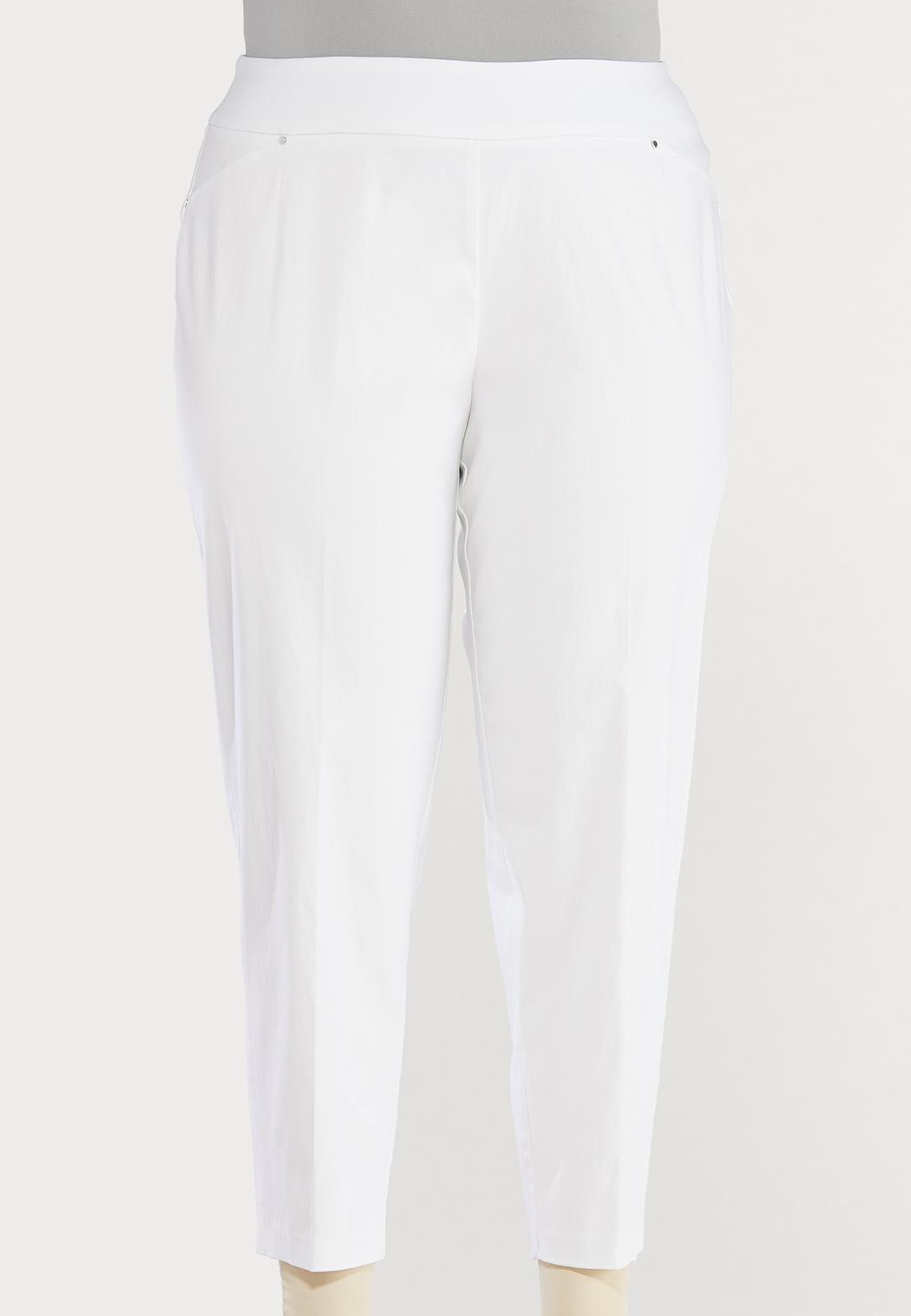 Plus Size Solid Bengaline Pants