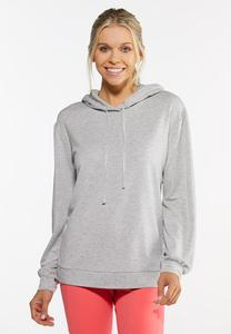 Plus Size Speckled Hoodie