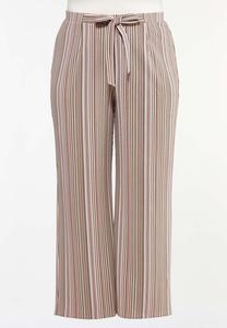 Plus Size Striped Palazzo Pants