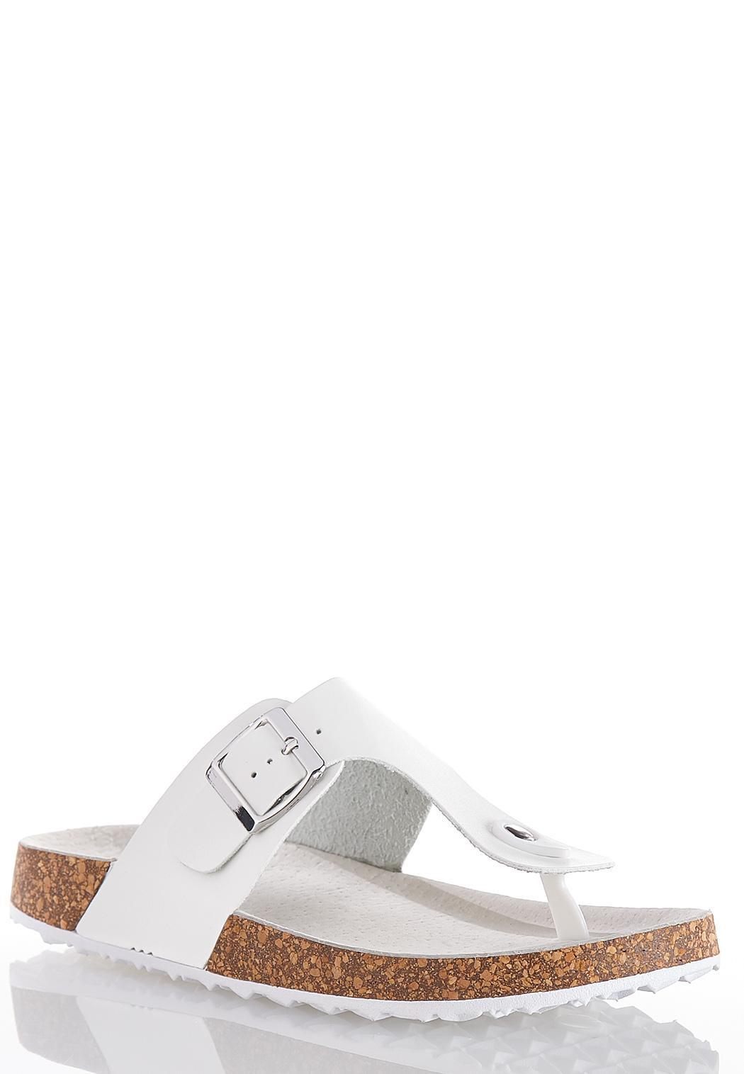 Metallic Buckle Strap Sandals