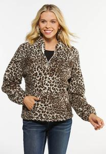 Fleece Animal Print Jacket