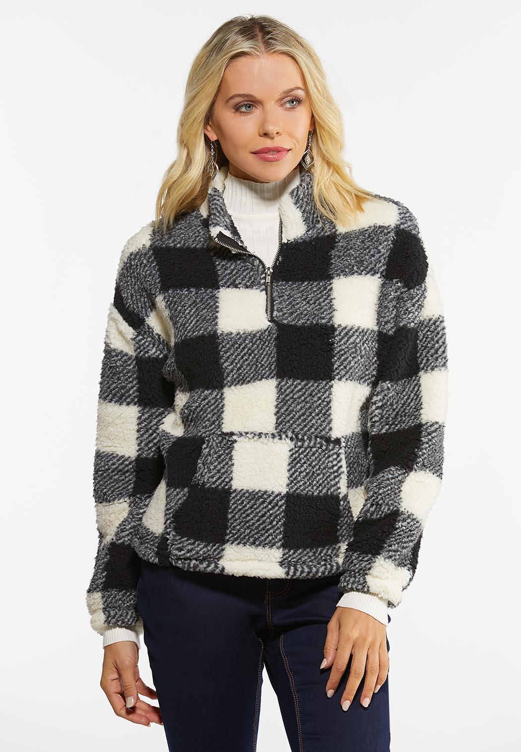 Plaid Fleece Pullover Top