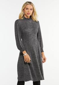 Plus Size Shimmer Smock Neck Corset Dress