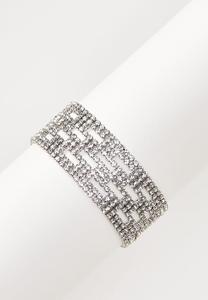 Cutout Rhinestone Bracelet