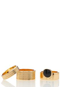 Stacked Gold Ring Set