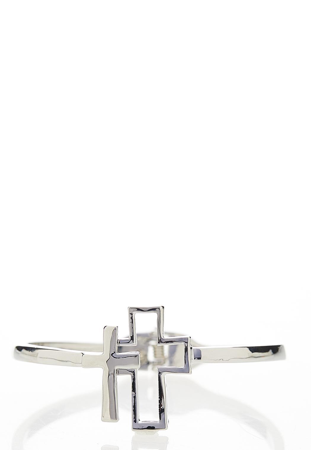 Cross Hinge Cuff Bracelet