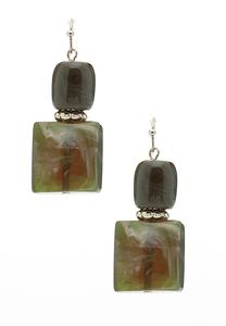 Green Acrylic Dangle Earrings