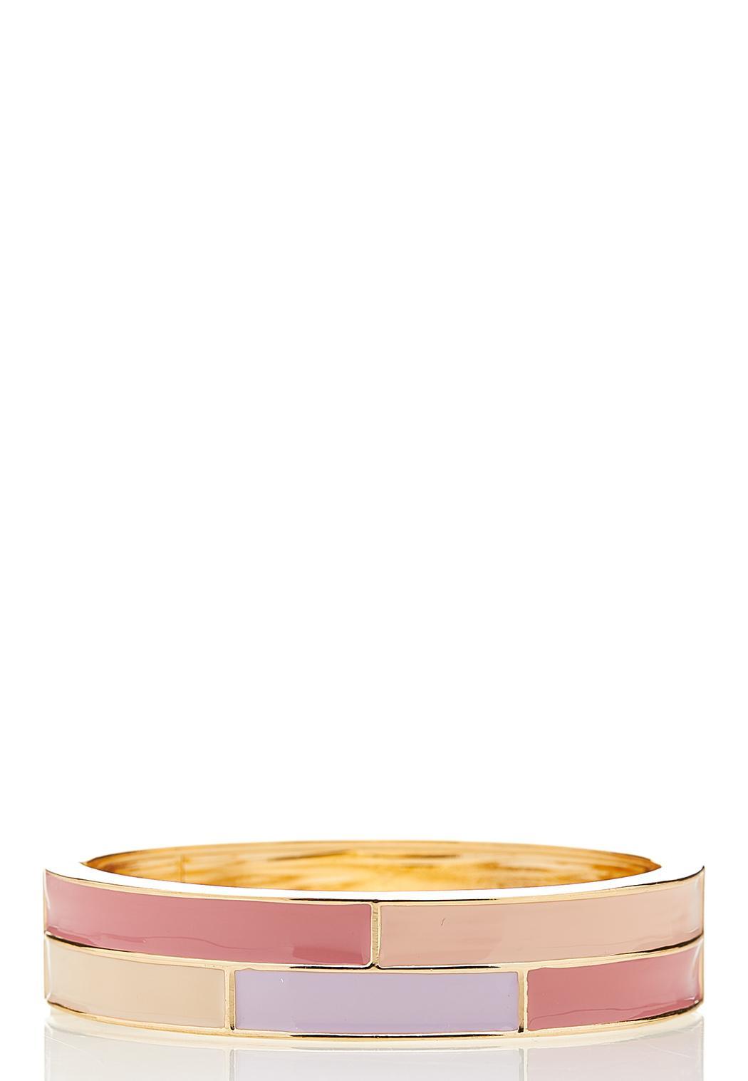 Pastel Enamel Cuff Bracelet