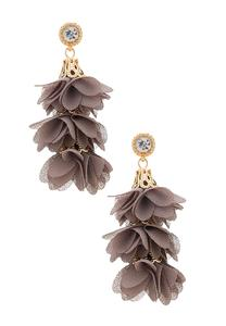 Tiered Fabric Petal Earrings