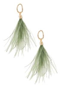 Dusty Feather Earrings