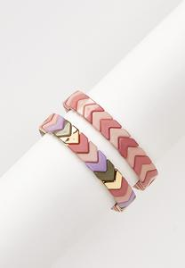 Chevron Stretch Bracelet Set