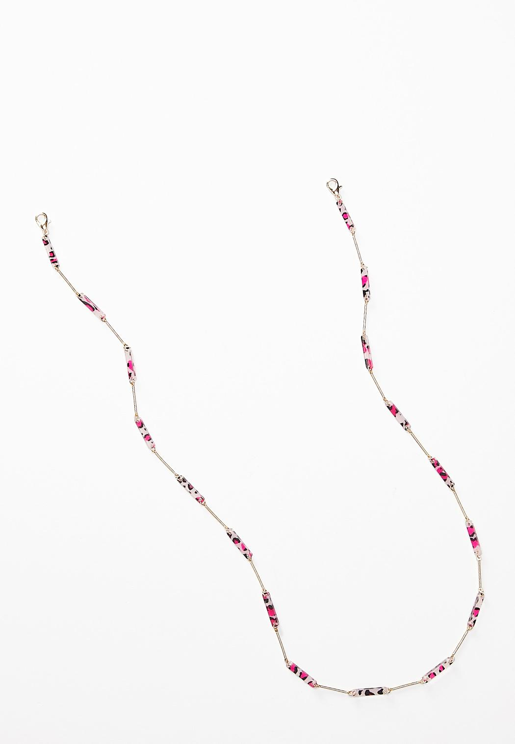 Leopard Lucite Bar Mask Chain