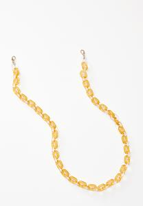 Yellow Lucite Link Mask Chain