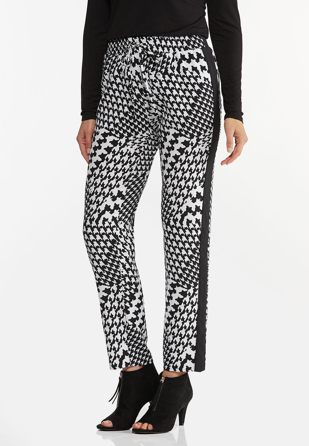 Houndstooth Track Pants