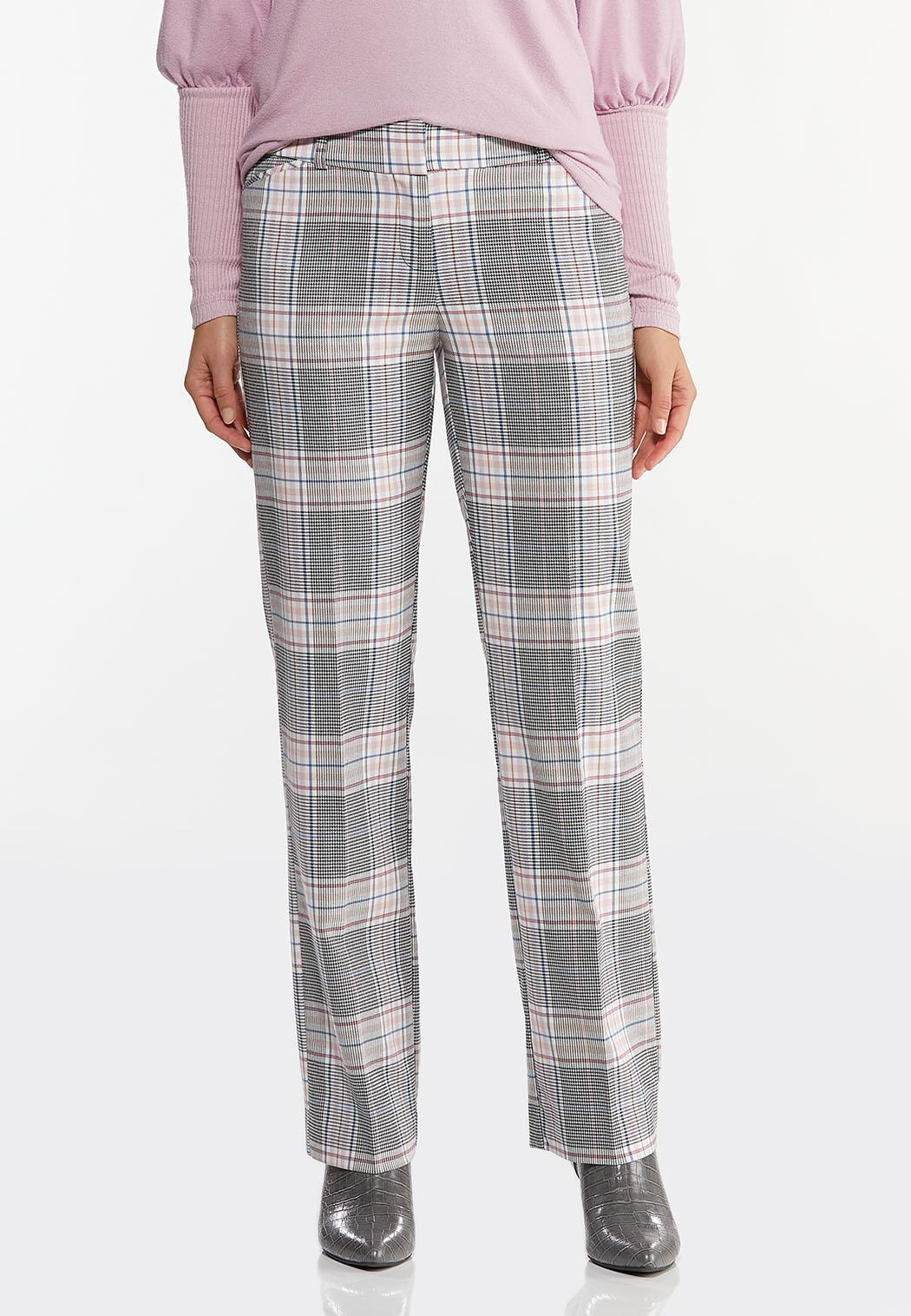 Lavender Plaid Trouser Pants