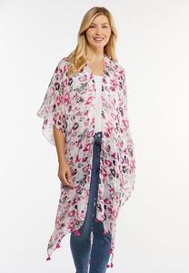 Fierce Fuchsia Tassel Kimono