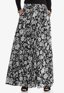 Sweeping Floral Maxi Skirt