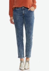 Acid Wash Girlfriend Jeans