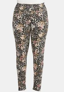 Plus Size Garden Floral Leggings