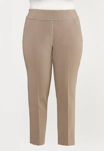 Plus Petite Textured Slim Pants